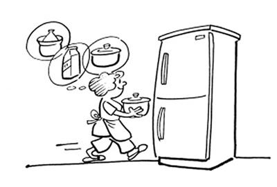 电冰箱手绘图片